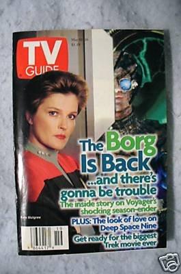 Star Trek Tv Guide Janeway Borg Cover.