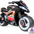 Ride On Toy Motorcycle Black Repsol Wind by Injusa