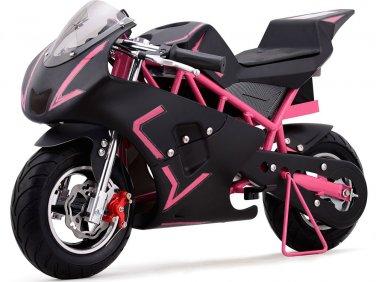 Super Pocket Bike California 36V Pink Electric MOTOTEC Age 13+