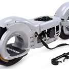 Gas Powered Skateboard 50cc Right or Left Foot WHEELMAN Silver