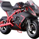 NEW Super Red Pocket Bike 40cc Gas Powered CALI by MOTOTEC Age 13+