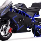 Super Pocket Bike California 36V Blue Electric MOTOTEC Age 13+
