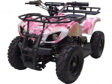 Mini Quad ATV 24v Pink Camo Battery Powered Powersports