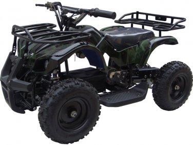 Mini Quad ATV 24v Green Camo Battery Powered Powersports