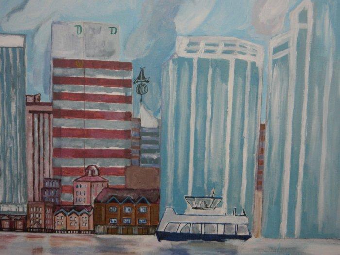 30 by 35 Acrylic - Halifax Skyline