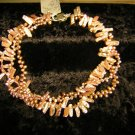 Pale Pink Pearl Triple Strand Necklace