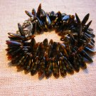Spikie Faux Tortoise Shell Bracelet