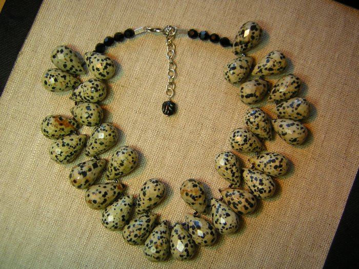 "Dalmation Jasper ""Egg"" Necklace"
