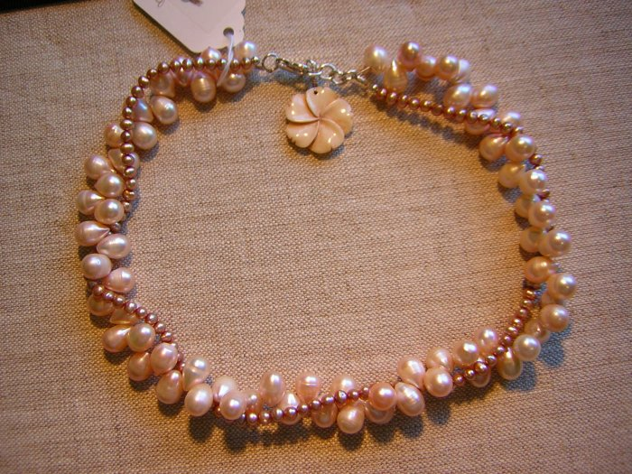 Pale Cream Pearl Double Strand Necklace