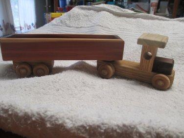 semi with open top box trailer