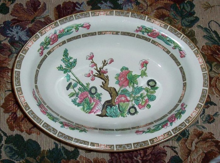 LARGE INDIAN TREE VEGETABLE BOWL WOOD & SONS