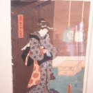 Japanese 19th c wood block print