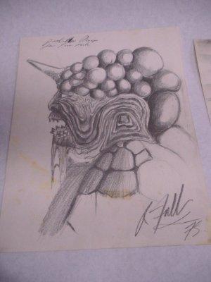 2 Sci Fi movie prop drawings