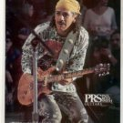 CARLOS SANTANA PAUL REED SMITH PROMO AD 1995