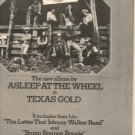 1975 ASLEEP AT THE WHEEL TEXAS GOLD POSTER TYPE AD