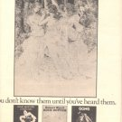 1975 THREE 3  VIRGINS POSTER TYPE AD