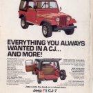 1976 1976 JEEP CJ-7 CJ7 VINTAGE CAR AD