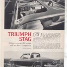 1971 1972 TRIUMPH STAG VINTAGE ROAD TEST AD 4-PAGE