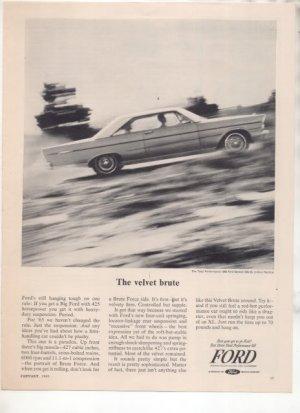 1965 FORD GALAXIE 500 XL VINTAGE CAR AD