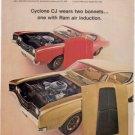 1968 MERCURY CYCLONE CJ AD