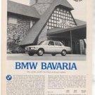 1971 1972 BMW BAVARIA VINTAGE ROAD TEST AD 4-PAGE