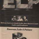 * 1974 EMERSON LAKE & PALMER POSTER TYPE AD
