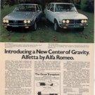 1975 1976 ALFA ROMEO ALFETTA GT VINTAGE CAR AD