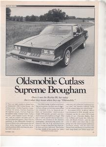 1980 1981 OLDSMOBILE CUTLASS SUPREME BROUGHAM ROAD TEST