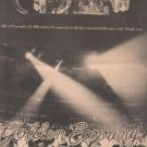 * 1974 GOLDEN EARRING MOONTAN POSTER TYPE AD