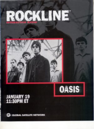 OASIS ROCKLINE POSTER TYPE AD
