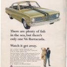 1966 PLYMOUTH BARRACUDA VINTAGE CAR AD
