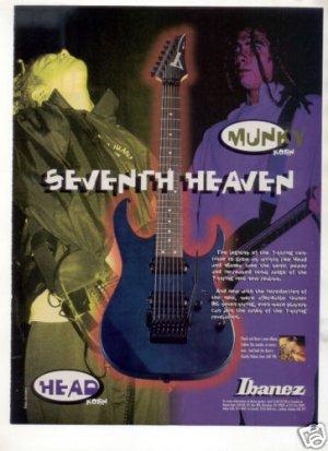 IBANEZ GUITAR AD KORN MUNKY HEAD 1998