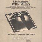 * 1976 JOHN MILES REBEL POSTER TYPE AD