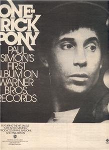 1980 PAUL SIMON ONE TRICK PONY POSTER TYPE AD