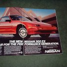 1986 NISSAN 300 ZX VINTAGE CAR AD 2-PAGE