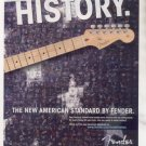 * FENDER STRATOCASTER GUITAR AD 2-PAGE