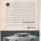 * 1963 CHRYSLER 300J 300-J PHOTO PRINT AD