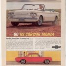 * 1963 CHEVY CORVAIR PHOTO PRINT AD