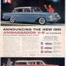 * 1961 RAMBLER AMBASSADOR STATION WAGON PRINT AD