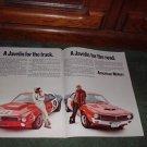 1970 JAVELIN VINTAGE CAR AD 2-PAGE