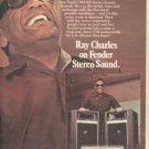 RAY CHARLES FENDER POSTER TYPE AD 1978