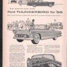 * 1956 FORD THUNDERBIRD PHOTO PRINT AD