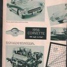 * 1956 CHEVY CORVETTE ARTICLE CAR AD PRINT 2-PAGE