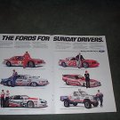 1985 1986 FORD THUNDERBIRD RACING TEAMS CAR AD 2-PAGE
