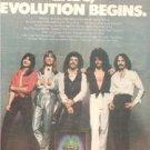 1979 JOURNEY EVOLUTION POSTER TYPE AD