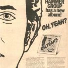 1976 THE JAN HAMMER GROUP OH YEAH POSTER TYPE AD