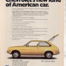 1975 1976 CHEVY CHEVETTE  VINTAGE CAR AD YELLOW
