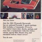 1965 1966 PLYMOUTH BARRACUDA VINTAGE CAR AD