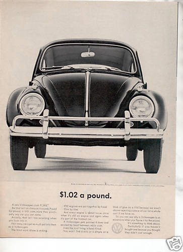 1964 VOLKSWAGEN VW BUG BEETLE CAR AD