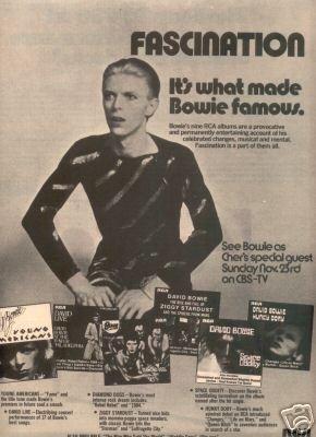 DAVID BOWIE FASCINATION PROMO AD 1975